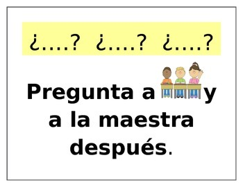 Ask 3 Before Me - Spanish Poster