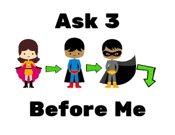 Ask 3 Before Me Super Heroes Theme