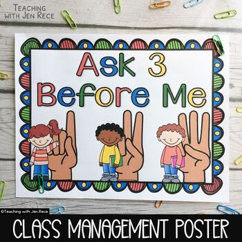 """Ask 3 Before Me"" Poster"