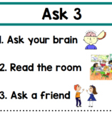 Ask 3 Before Me----problem solving