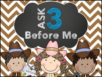 Ask 3 Poster (Western Themed)