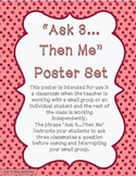 """""""Ask 3...Then Me"""" Classroom Management Poster"""