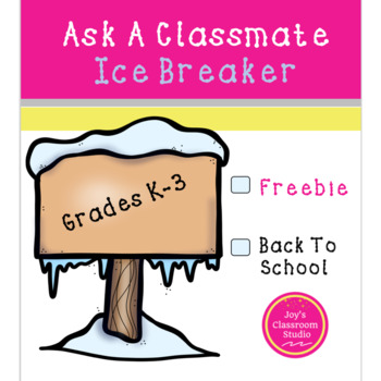 Ask A Classmate Back to School Ice Breaker