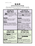 Nonfiction and Fiction Ask & Answer Interactive Notebook Insert