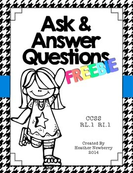 Ask & Answer Questions FREEBIE