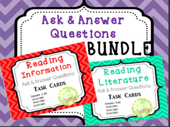 Ask & Answer Questions Task Card Bundle {Common Core}