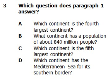 Ask & Answer Questions - The Seven Continents
