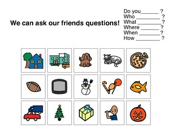 Ask Friends Questions - Autism VISUAL
