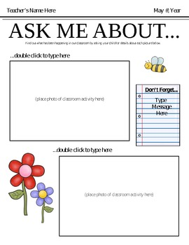 ask me about newsletter template september june bundle by ana