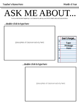Ask Me About  - Newsletter Template