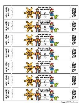 Ask Me! Bracelets - SIGHT WORDS - Get Parents Involved!  - Western Theme