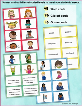 Social Skills Activities: Emotion Vocabulary for Problem Solving and Inferences