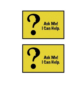 Ask Me! I Can Help. Badge for Students