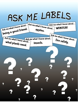 """""""Ask me what I know about..."""" - Labels that bring the preschool lessons home."""