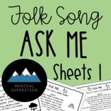 Ask Me Sheets- First Steps in Music, Year 1, Semester 1