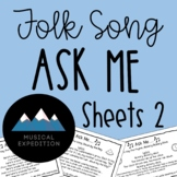 Ask Me Sheets- First Steps in Music, Year 1, Semester 2