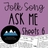Ask Me Sheets- First Steps in Music, Year 3, Semester 2