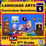5TH GRADE LANGUAGE ARTS - Curriculum Map Questions for Tea
