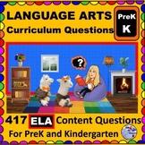 PRESCHOOL- KINDERGARTEN LANGUAGE ARTS - Curriculum Map Progressive Questions