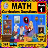 1ST GRADE MATH - Curriculum Map Progressive Questions for