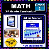 3RD GRADE MATH  - Curriculum Map Progressive Questions for Teachers and Parents