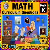 PRESCHOOL - KINDERGARTEN MATH -  Curriculum Map Questions