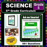 5TH GRADE SCIENCE -  Curriculum Map Progressive Questions for Teachers & Parents