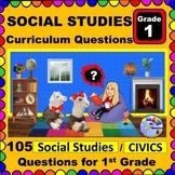 1ST GRADE SOCIAL STUDIES & CIVICS - Content Questions for Teachers and Parents