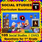 1ST GRADE SOCIAL STUDIES & CIVICS - Curriculum Questions for Teachers & Parents