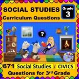 3RD GRADE SOCIAL STUDIES & CIVICS - Curriculum Questions f