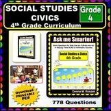 4TH GRADE SOCIAL STUDIES & CIVICS - Content Questions for