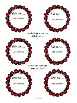 """""""Ask Me..."""" Student Badges"""