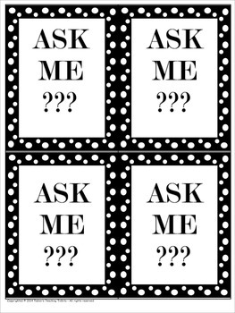 Ask Me??? (Tags/Lanyards for Reading Rotations)