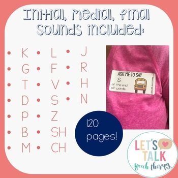 Ask Me Target Tags--Articulation Carryover Tags for Speech Therapy