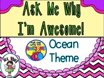 Ask Me Why I'm Awesome Badges (Ocean Theme)
