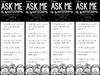 Ask Me a Question: Resource Bookmark for Parents