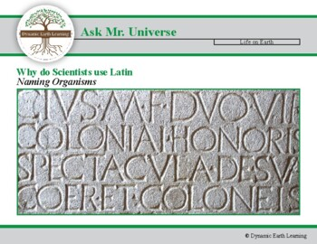 Ask Dr Universe: Why do Scientists use Latin when they name Organisms?
