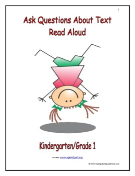 Ask Questions About Text Read Aloud: Introduce/Practice/Assess