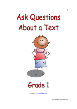 Ask Questions About a Text: Introduce/Practice/Assess