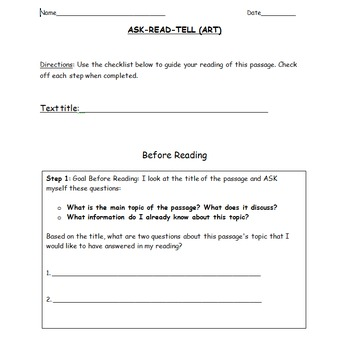 Ask Read Tell