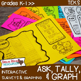 Data Analysis & Graphing Practice Interactive Brochures: Ask, Tally, & Graph