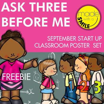 Ask Three Before Me Classroom Posters