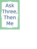 Ask Three Then Me Ikea Tolsby Sign