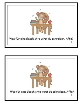 Ask Us About School Reproducible German Emergent Reader
