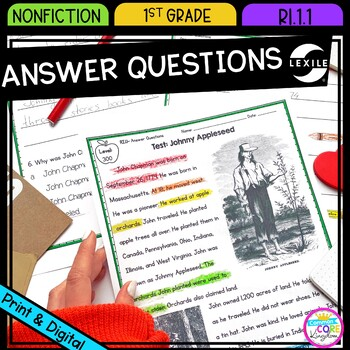 Ask and Answer Nonfiction Questions- RI.1.1