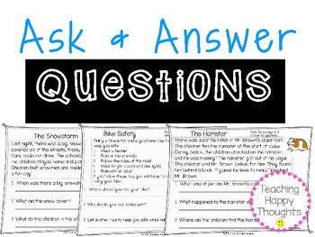 Ask and Answer Questions