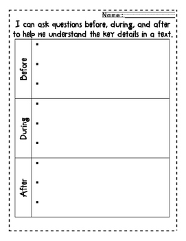 Ask and Answer Questions Before, During and After Reading