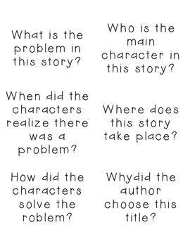 Ask and Answer Questions {CCSS.ELA-Literacy.RL.1.1}