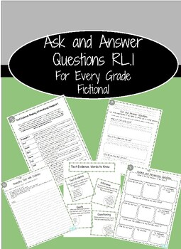 Ask and Answer Questions: Fictional Text R.L.1