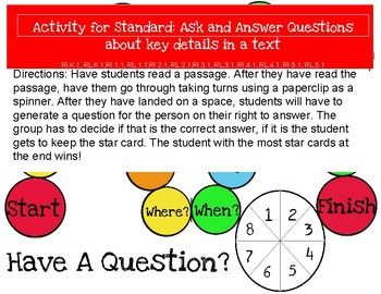 Ask and Answer Questions Game for any grade level!!!